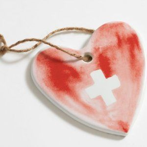 Doctors Without Borders Thank You Ceramic Heart